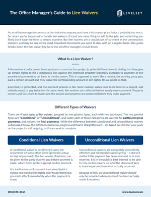 office manager lien waiver